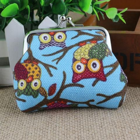 Women's Owl Purse - Light Blue