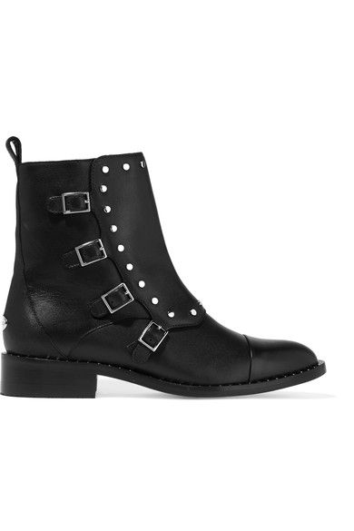 Jimmy Choo - Baxter Studded Leather Ankle Boots - Black - IT