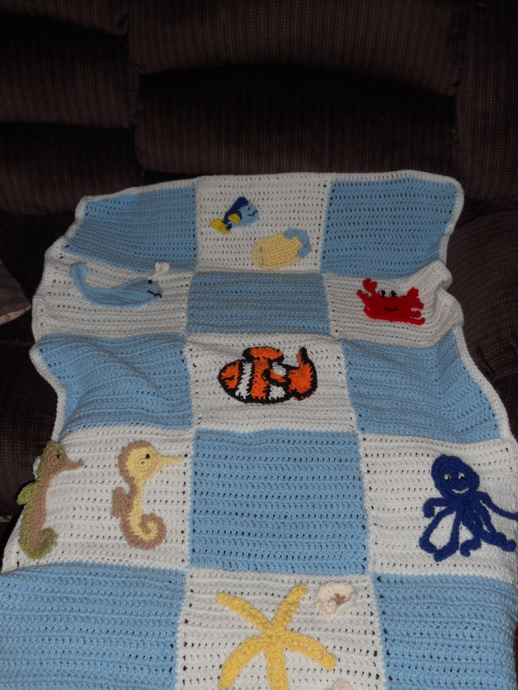 Crocheted Sea Animal Baby Blanket Items I Have Crocheted