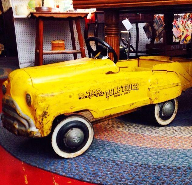 vintage pedal car dump truck