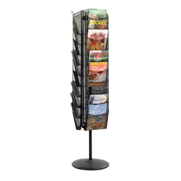 Lovely Safco Mesh Rotating 30 Pocket Magazine Stand   Perfect For Reception Areas  Or Waiting Rooms, The Safco Mesh Rotating 30 Pocket Magazine Stand Makes  The Most ...