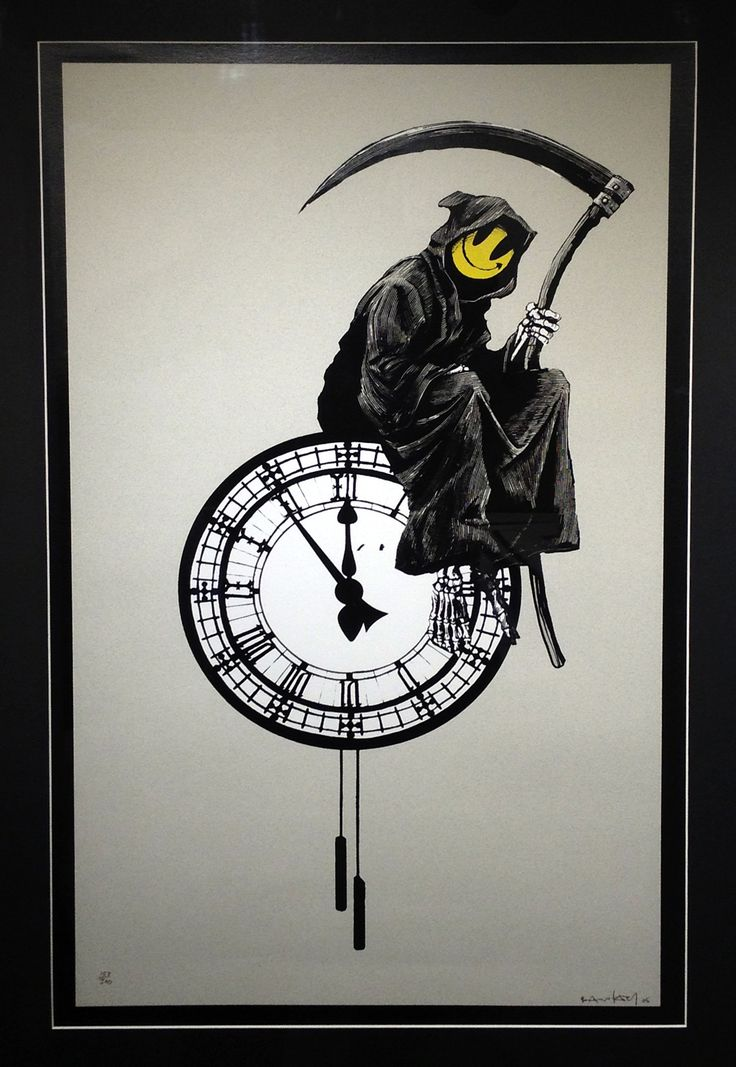 Grin Reaper by Banksy SOLD Silkscreen on Paper Signed Limited Edition of 300 (framed) 58cm x 86cm  This is now out of stock. Call us for artist alternatives on 020 7240 7909 or email info@lawrencealkingallery.com