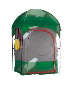 Deluxe Camp Shower/Shelter Combo is our best Showere combo it has a Removable rip-stop polyethylene floor, Rust-resistant 3/4 diameter chain-corded steel poles, and Two no-see-um mesh roof panels provide superior ventilation. It comes with a Texsport Sun Shower 5 gallons. Complete with stakes, carry/storage bag and instructions for use. The best quality Camp Shower combo! Flame retardant, meets C.P.A.I.-84 Specs. $70