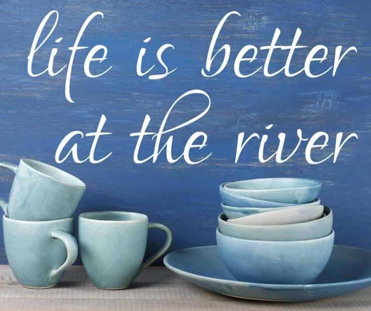 Life is better at the river vinyl wall decal sticker River lovers wall Decor River Cabin decor wall decal/ Life is better at the Beach Lake by ArtsyWallsAndMore on Etsy