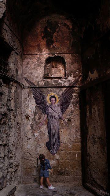 """""""Angel"""", Abbott Handerson Thayer-by Zilda in Naples (Napoli)"""