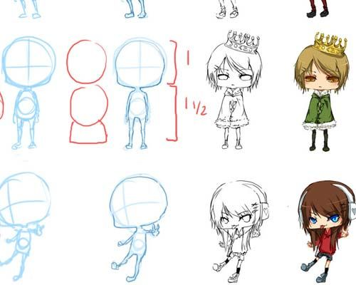 useful chibi style anime drawing tutorials