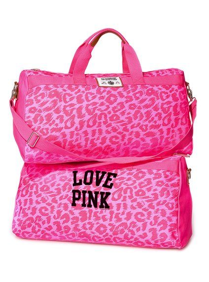 pink leopard print carry on bag