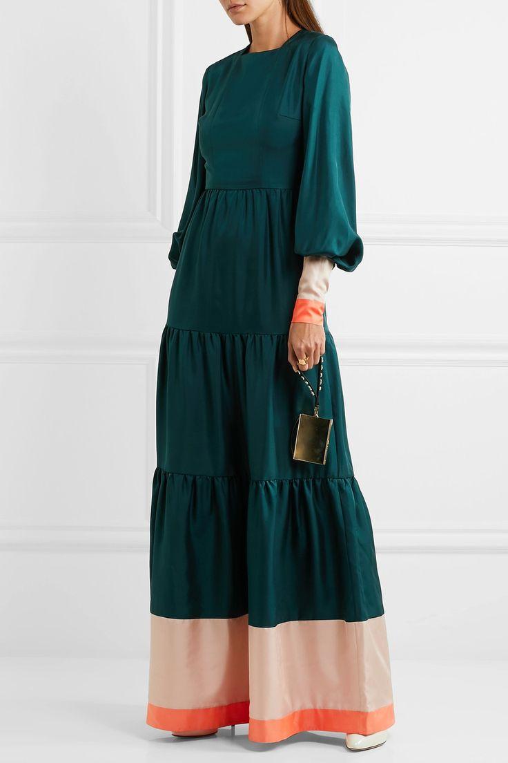 ROKSANDA Letava tiered silk crepe de chine gown