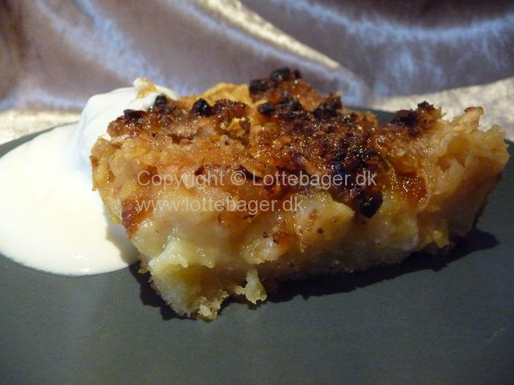 Bagt æblekage med låg   Bageopskrifter, kageopskrifter og opskrifter på tærte m.m.