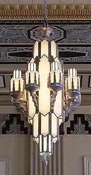 Art Deco Chandelier Pacific Building Texas Hva