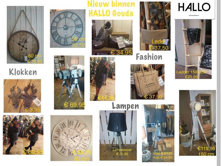 Nieuwe klokken, lampen en fashion binnen bij Hallo Gouda