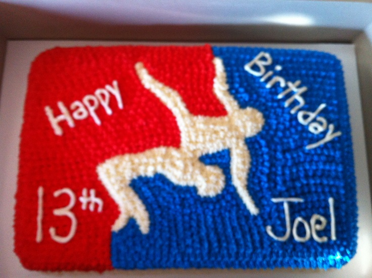 Usa Wrestling Cake Cakes And Cupcakes Pinterest
