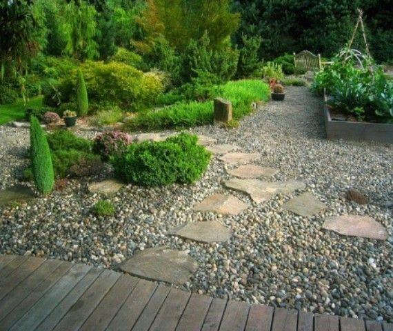 122 besten Garten ohne Rasen Bilder auf Pinterest Gärtnern - moderner vorgarten mit kies