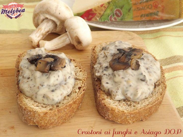 #Crostoni ai #funghi e #Asiago DOP