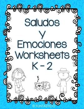 Cute worksheets to teach the your younger students Greetings and Emotions in Spanish!You can also download the Flashcards and more interactive workbook sheets here:https://www.teacherspayteachers.com/Product/Spanish-Greetings-Interactive-Notebook-and-Flash-Cards-2030540
