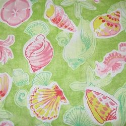 Pink Green Sealife...Bedspread...paulshomefashions.com