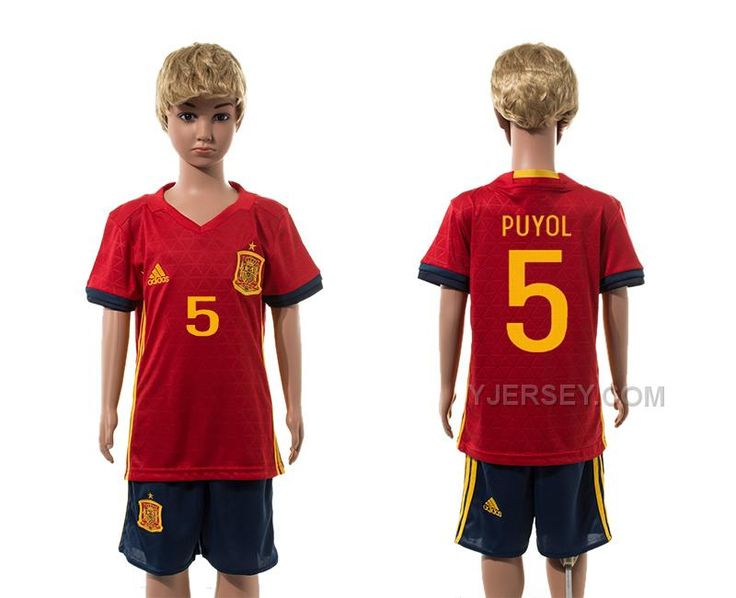 96597c760 spain 5 sergio ramos red home youth kids child 2016 2017 country national  team soccer jerseys httpwww.yjersey.com5-puyol-home- · EuroRetailSergio ...