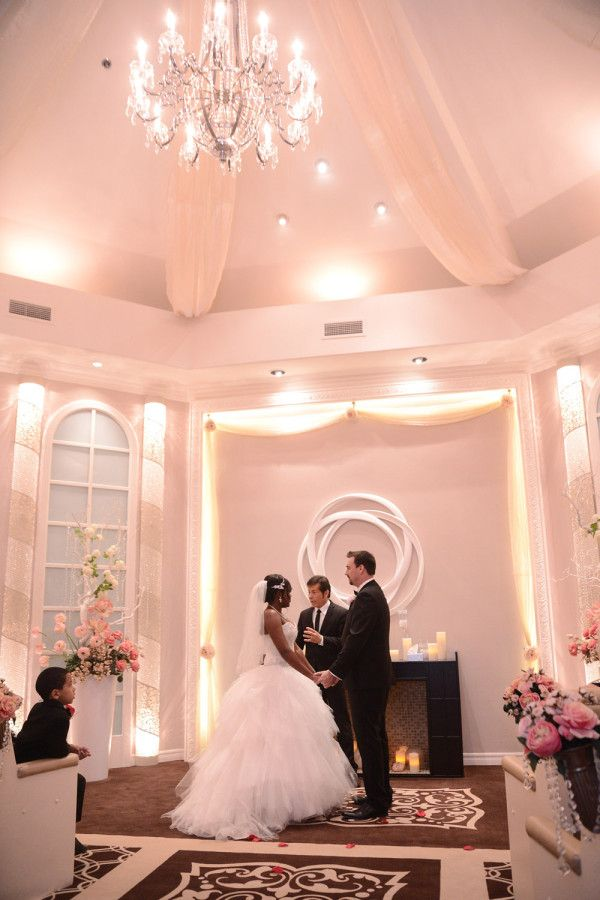 The Chapel at Flamingo Las Vegas // Casey and Mo's Hot Pink Flamingo Chapel Wedding from Bently and Wilson Photography // Featured on Little Vegas Wedding