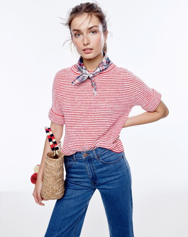 Do you speak J.Crew? Wilderness knot. Definition: a jaunty neckerchief tied in front. Pairs well with s'mores.