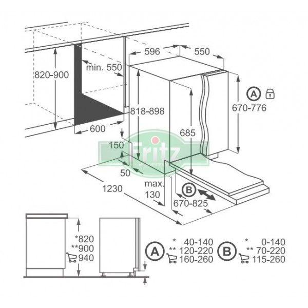 Electrolux ESL 5201 LO teljesen beépíthető mosogatógép