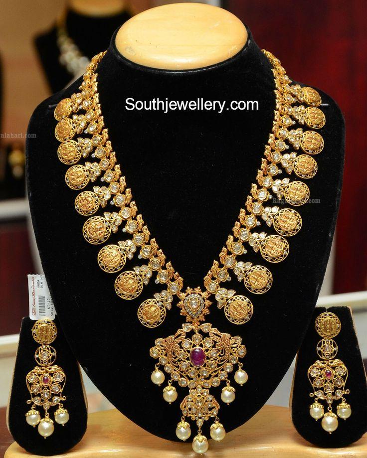 Stunning Ram Parivar Pacchi Kasu Haram - Jewellery Designs