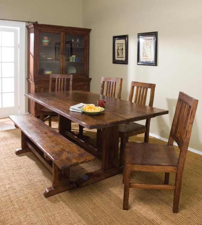 Exciting Dining Room Table With Bench Small Dining Space Corner Trestle Dining Tables Vintage Dining Room Rustic Dining Room
