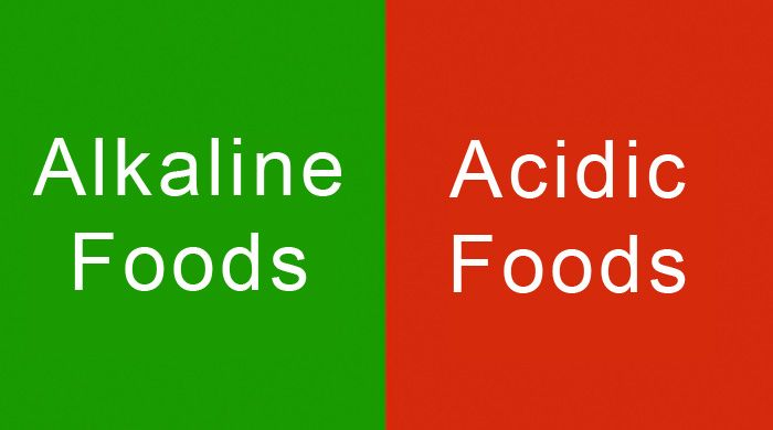 Alkaline vs Acidic Foods Chart - Keeping your body in a slightly alkaline state…