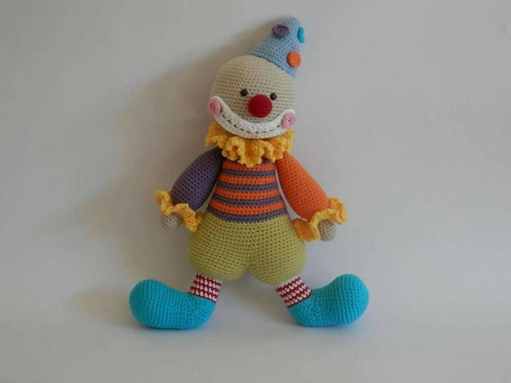 Clown toy doll ready to ship by Addicted2theHook on Etsy
