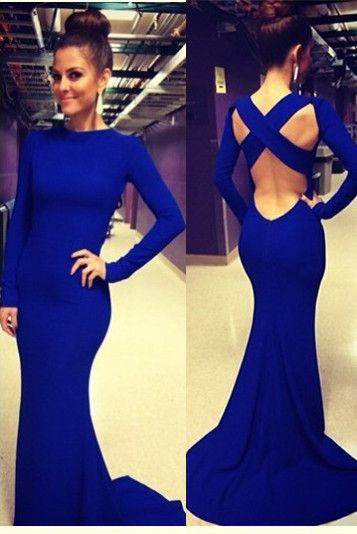 USD$99,Royal Blue Evening Gown Sexy Mermaid Prom Dresses For the Valentine's day.