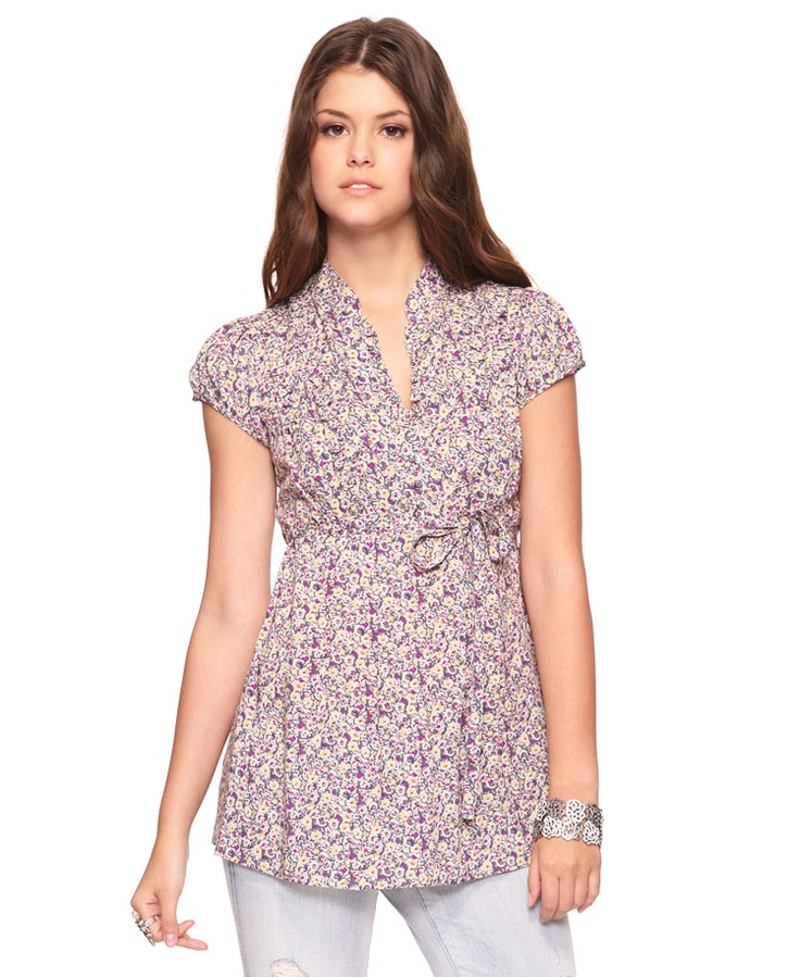 Woven Floral Tunic  $19.80