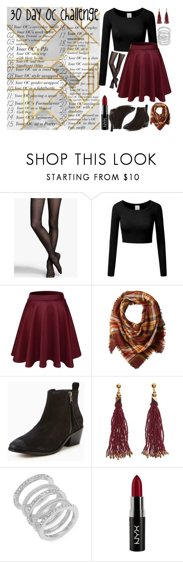 """""""Emma Hills Party Outfit"""" by sarah-rose-312205 ❤ liked on Polyvore featuring Express, La Fiorentina, Carvela, Nocturne, Cole Haan and NYX"""
