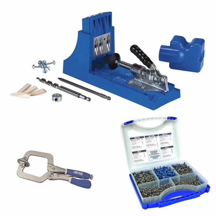 Kreg K4 Pocket Hole System w/ Screw Kit in 5 Sizes and Face Clamp