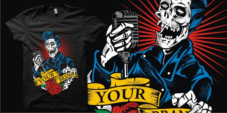 """Rockin Greaser"" t-shirt design by plaju"