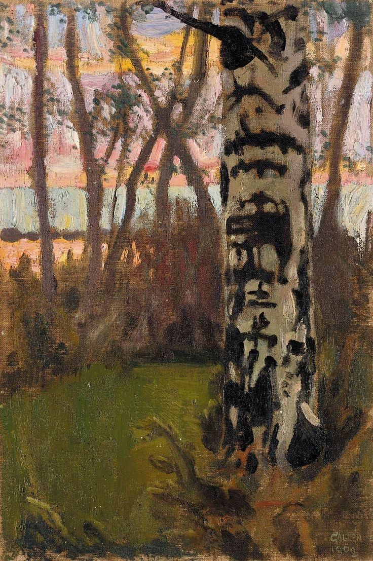 Sunset, Akseli Gallen-Kallela, 1908.
