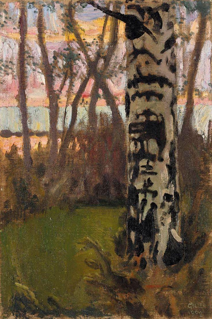 Sunset, Akseli Gallen-Kallela, 1908.