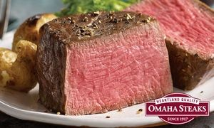 Make your holiday meals special or your gifts savory with delicious meat packages from Omaha Steaks, featuring filet mignon and burgers