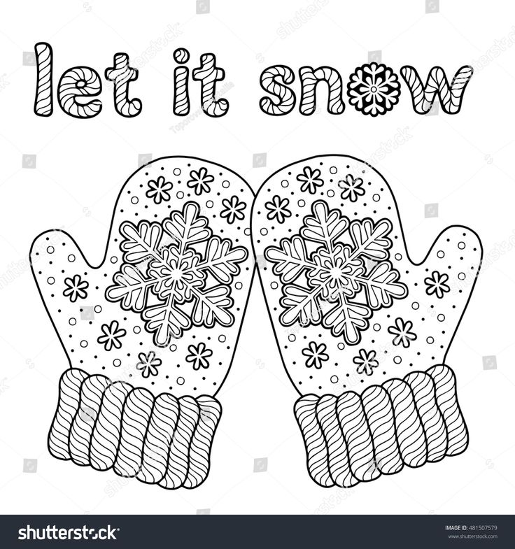 26+ Christmas mitten coloring page ideas