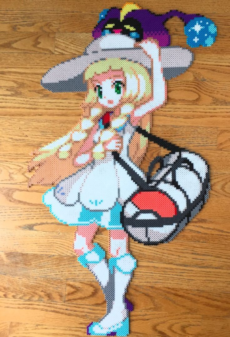 {Perler} Lillie and Nebby by OddishCrafts
