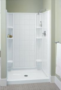 so need to replace the bathtub with this glass doors and a little showerproof stool one piece shower stallstall