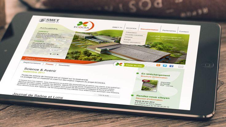 Site internet - Ecocea Valorisation des déchets - ZONALPHA | Agence de communication