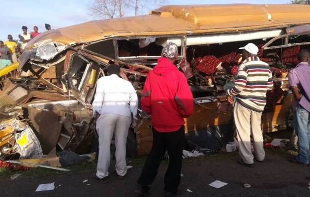 FATAL BUS-TRUCK CRASH IN KENYA KILLS AT LEAST 26 PEOPLE