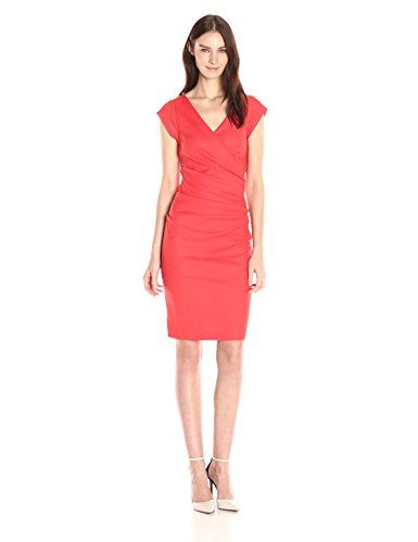 Nicole Miller Stretch Linen Tuck Dress in Mandarin - http://www.womansindex.com/nicole-miller-womens-beckett-stretch-linen-tuck-dress-mandarin-6/ #NicoleMiller #Dress