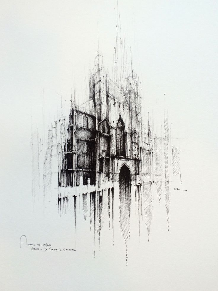 ST. STEPHEN CATHEDRAL - VIENNA   Drawing on paper, 50cmx50cm, ink, water  © Pavel Filgas 2016