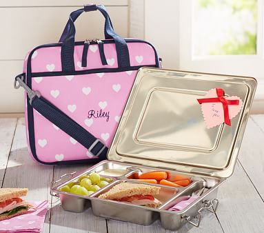 New Gear Mackenzie Pink Heart All In One Lunch Bag Back