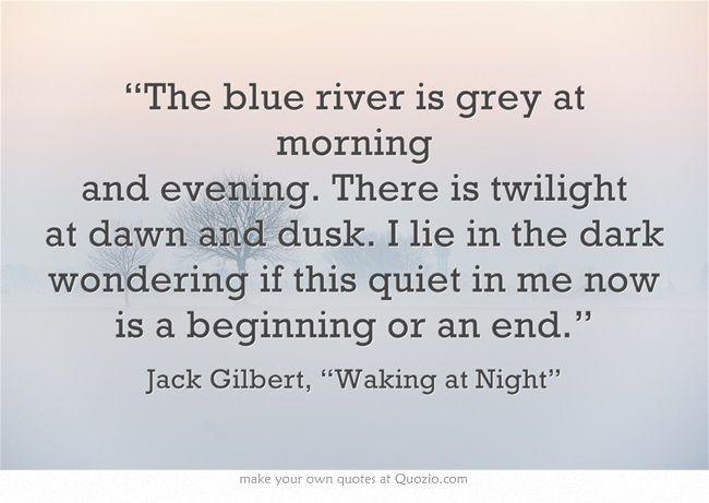 Friday Pick: Jack Gilbert — An Appreciation