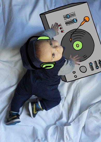 León de Mayor quiere ser Dj. Fotografia & Ilustración Creativa de bebés y niños soñadores. bebé baby