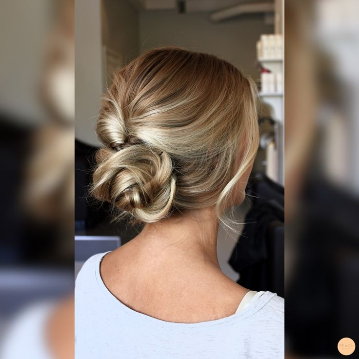 Pin up a messy braid for a simple updo