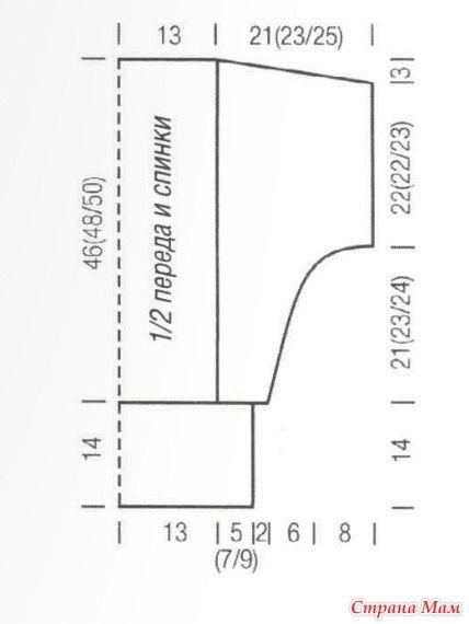 РАЗМЕРЫ 36/38 (40/42) 44/46  ВАМ ПОТРЕБУЕТСЯ • 550 (600) 650 г тёмно-серой пряжи (50% бамбукового волокна, 50% хлопка, 95 м/50 г) • спицы №4,5  Резинка: попеременно 2 изн., 2 лиц.