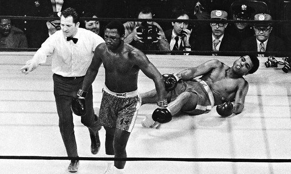 """Joe Frazier, Ex-Heavyweight Champ, Dies at 67 • Frazier, wrote Norman Mailer, was """"twice as black as Cassius Clay and half as handsome,"""" with """"the rugged decent life-worked face of a man who had labored in the pits all his life."""" • """"Joe Frazier would come out smoking,"""" George Foreman told ESPN. """"If you hit him, he liked it. If you knocked him down, you only made him mad."""" • Frazier once told The Times: """"Ali always said I would be nothing without him. But who would he have been without me?"""" •…"""