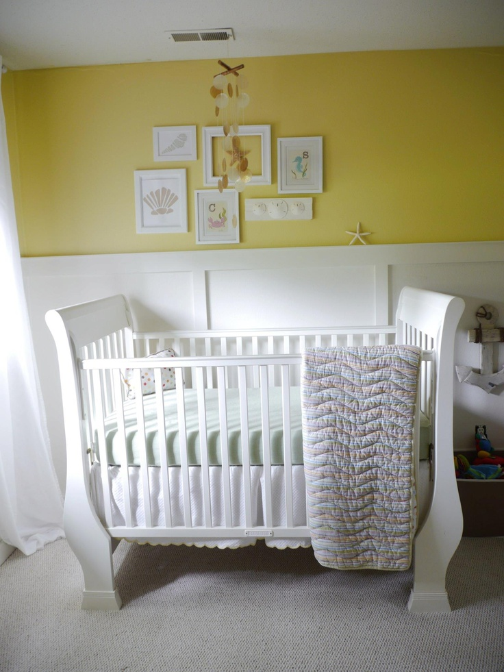 wainscoating for babys room not yellow  Nursery  Yellow kids rooms Nursery paintings
